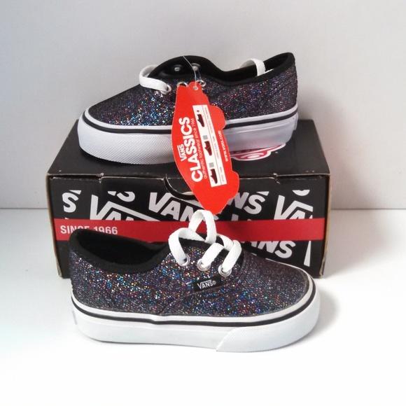 b11a7d633cb18e Vans Glitter Shoes Girls Toddler Size US 5 Euro 21